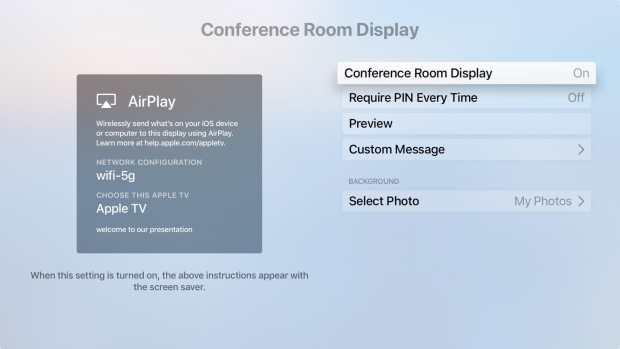 Turn On Conference Room Display Apple TV