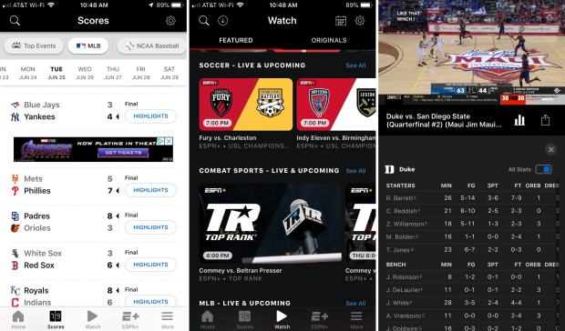 ESPN Scores Watch iPhone