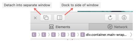 Position Web Inspector in Safari on Mac