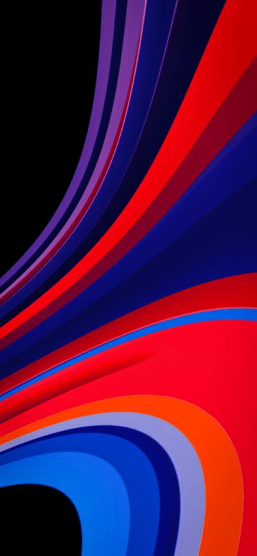 multi color abstract ribbon wallpaper IPHONE X, XR, XS, XS MAX, 1PLUS 6T - V123 - JFL