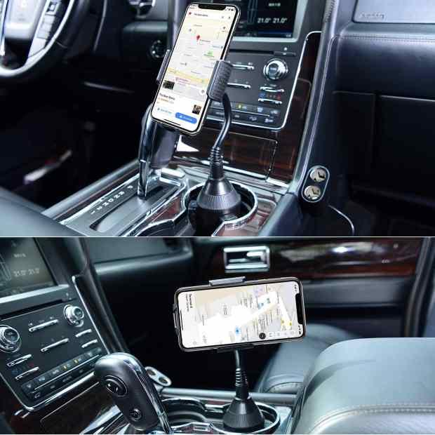 Amoner car cup holder phone mount