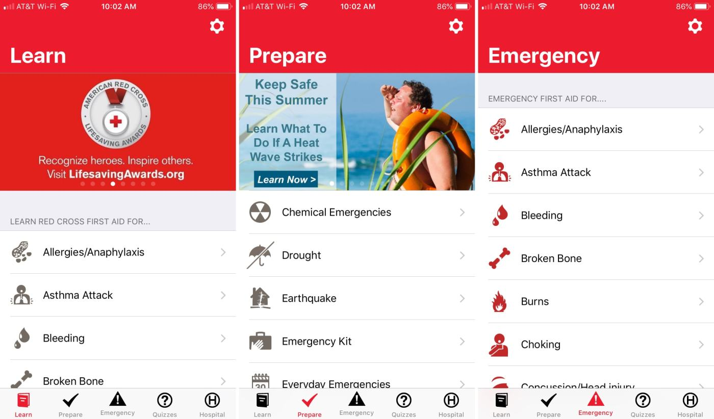 First Aid American Red Cross app iPhone