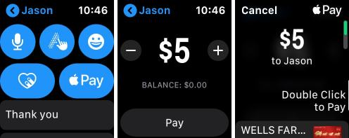 Send Money with Apple Pay Apple Watch
