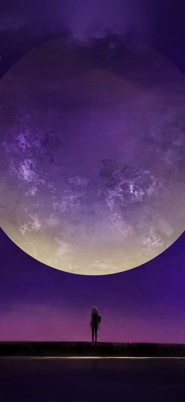 purple moon iphone wallpaper