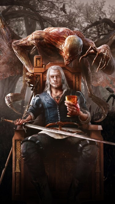 The Witcher iPhone wallpaper idownloadblog demon