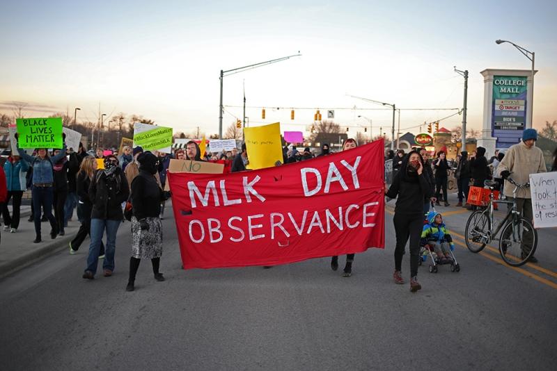 #ReclaimMLK protest