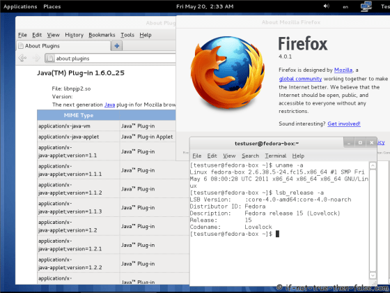 Oracle/Sun Java installed on Fedora 15 64-bit