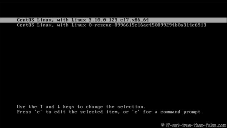 CentOS 7.5 Grub2