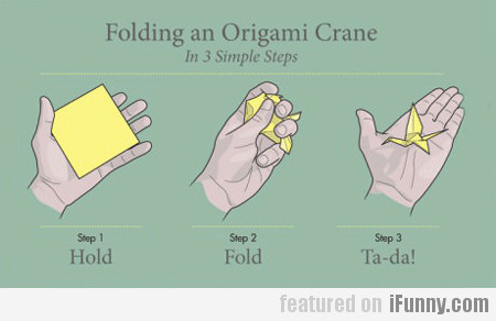 Folding An Origami Crane In 3 Simple Steps