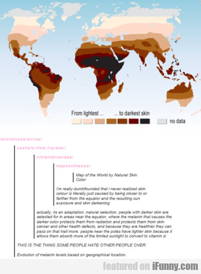 Map Of The World According To