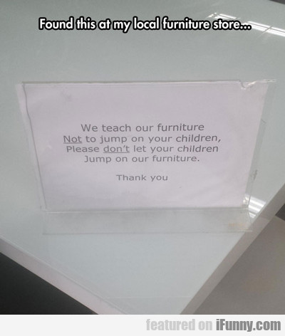 Found This At My Local Furniture Store...