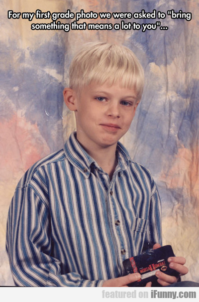 For My First Grade Photo We Were Asked...