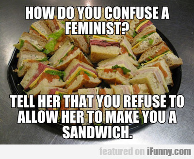 How Do You Confuse A Feminist...