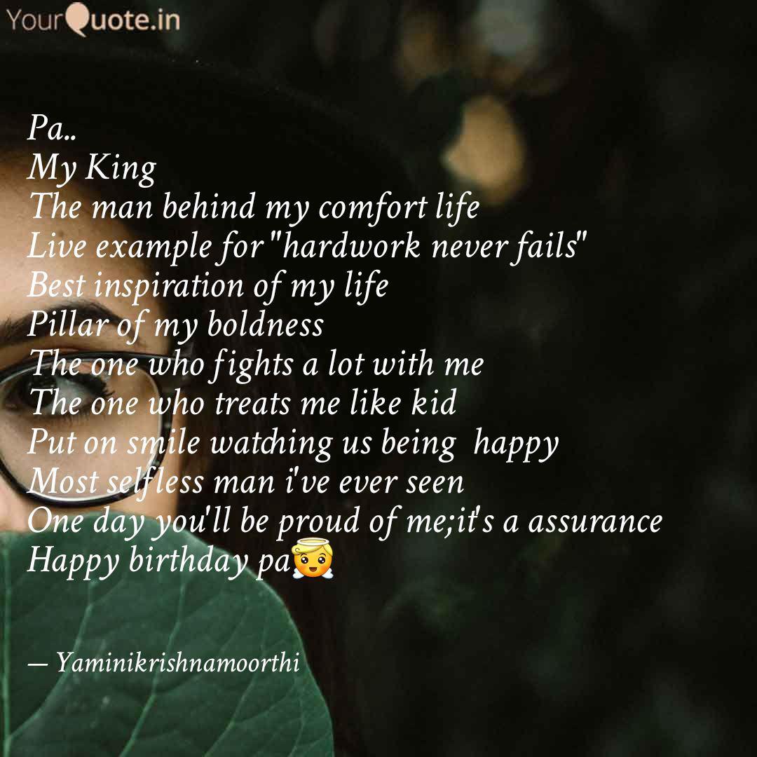 Pa My King The Man Behi Quotes Writings By Yamini Krishnamoorthi Yourquote