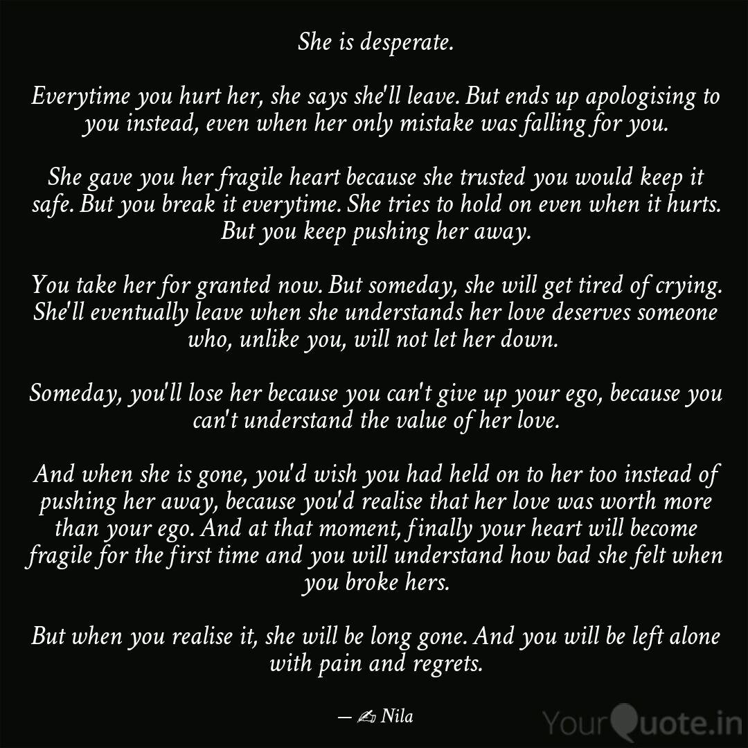 quotes about being hurt by someone you love regreting hot