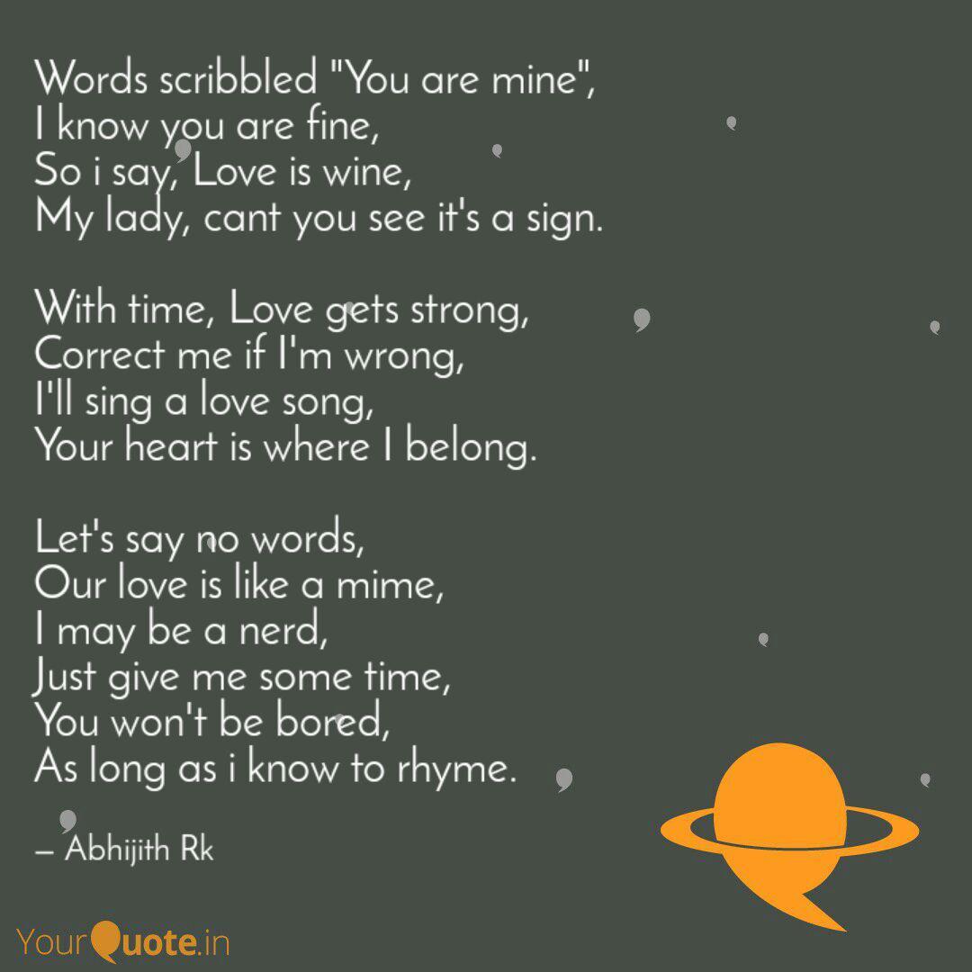 Wine Rhyming Words