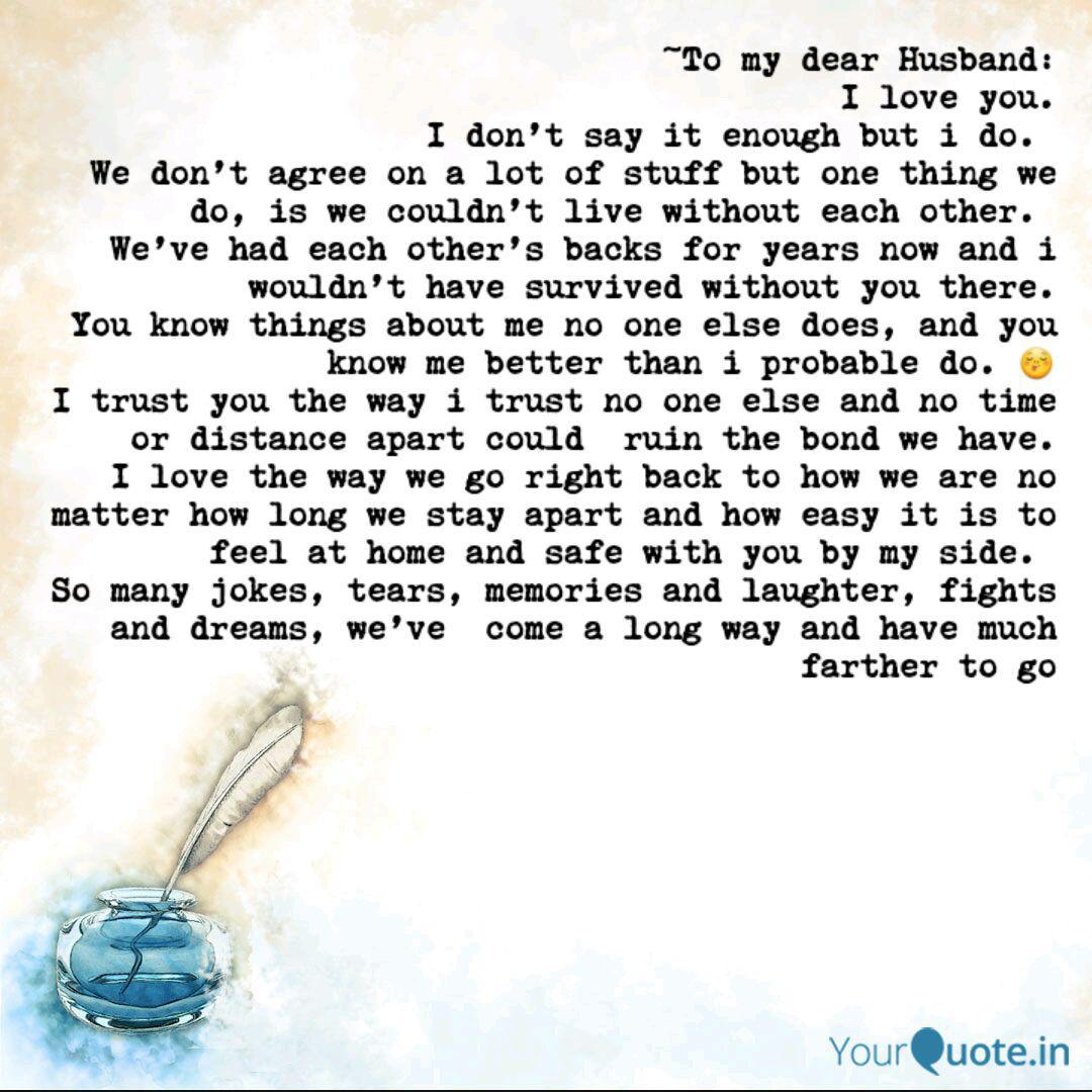 For My Dear Husband