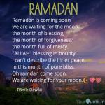 Ramadan Is Coming Soon W Quotes Writings By Ramiz Dewan Yourquote