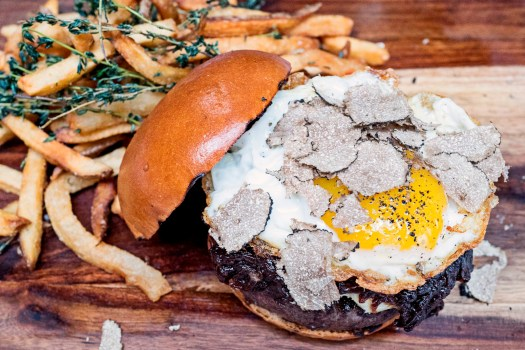The Beatrice Inn, dry aged burger with truffles