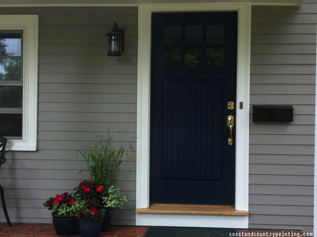 Navy Blue Door