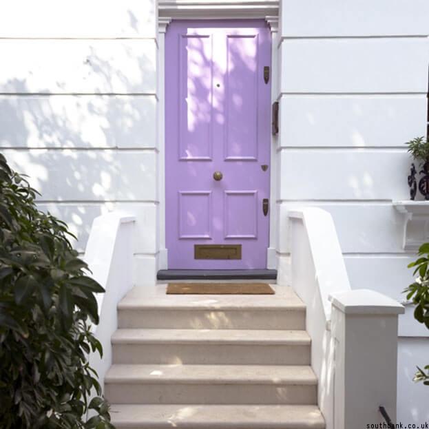 Pastel purple door
