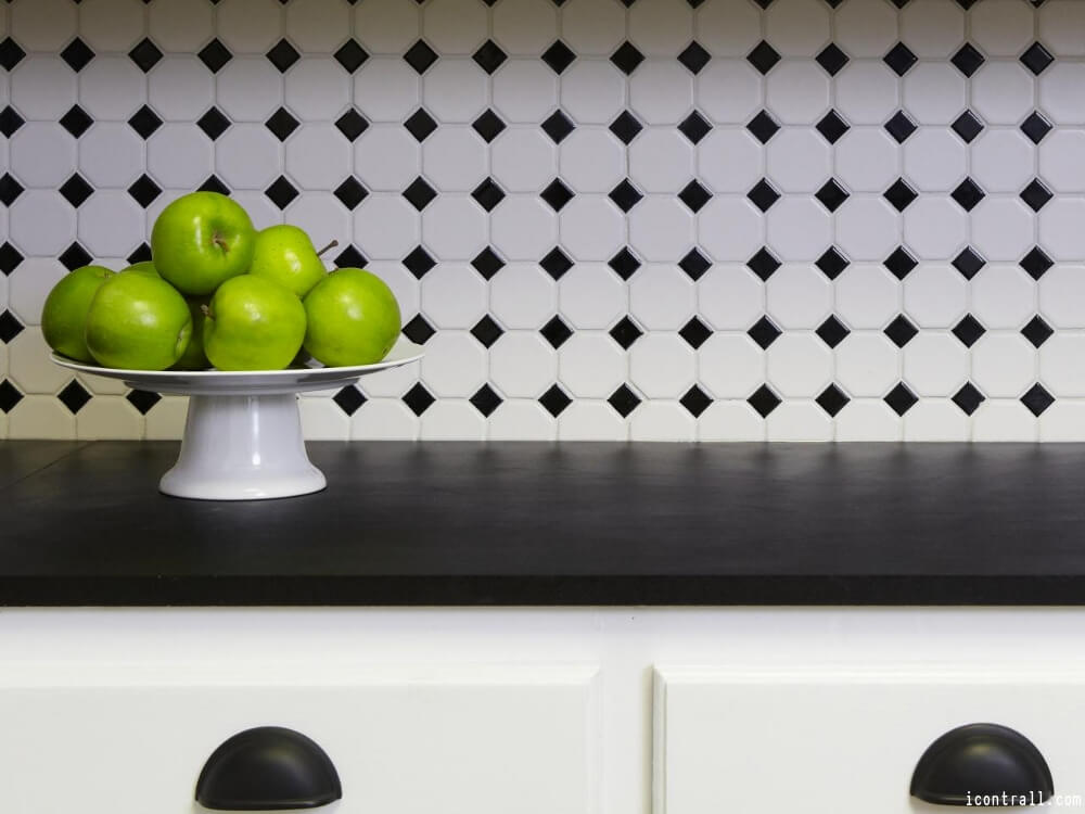 Black And White Kitchen Tile Ideas Part - 47: Black And White Kitchen Tile