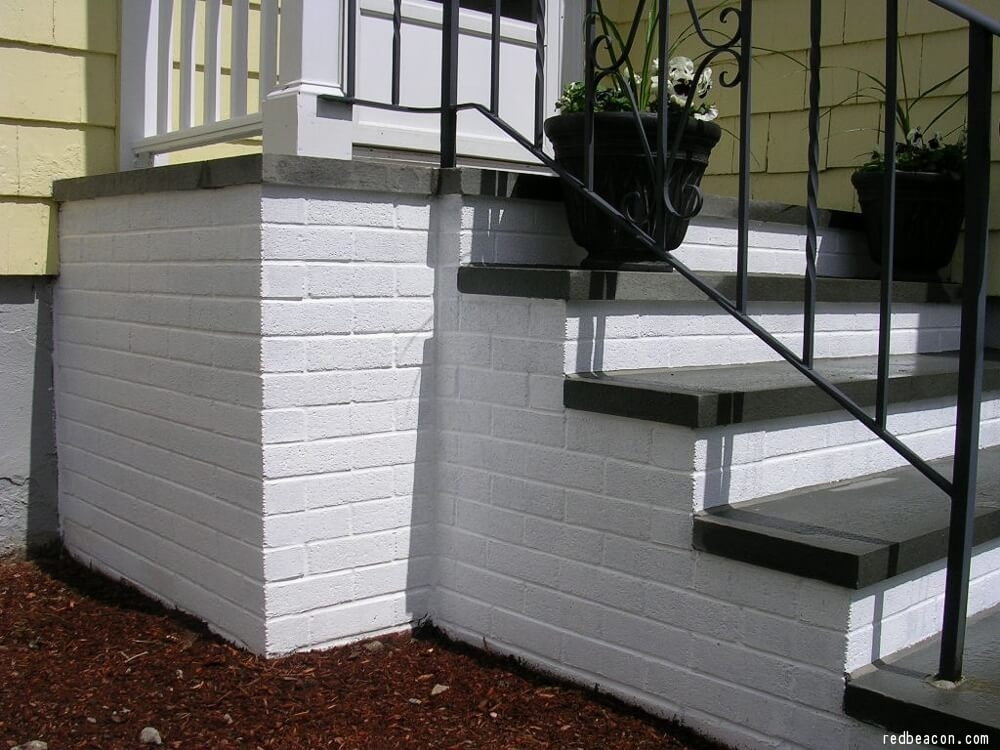 How To Paint Concrete Steps Concrete Paint   Front Stairs Designs With Landings   Small Space   Flared   Architectural   Exterior   Curved