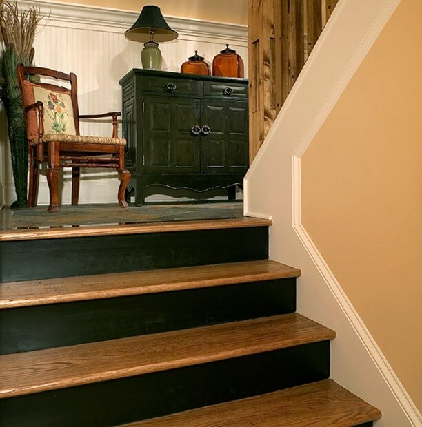 How To Repair A Broken Stair Tread | Carpet On Tread Only | Wood Stairs | Risers | Stair Tread | Hardwood | Staircase