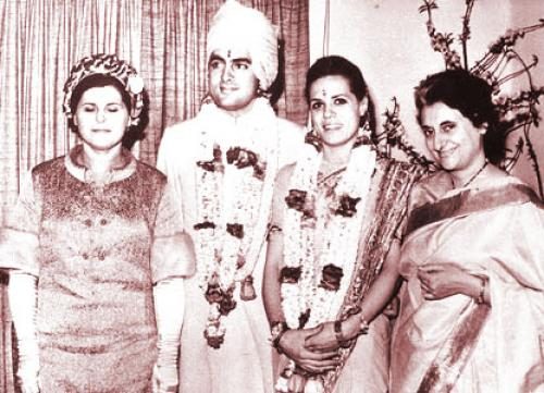 Rajiv Sonia wedding