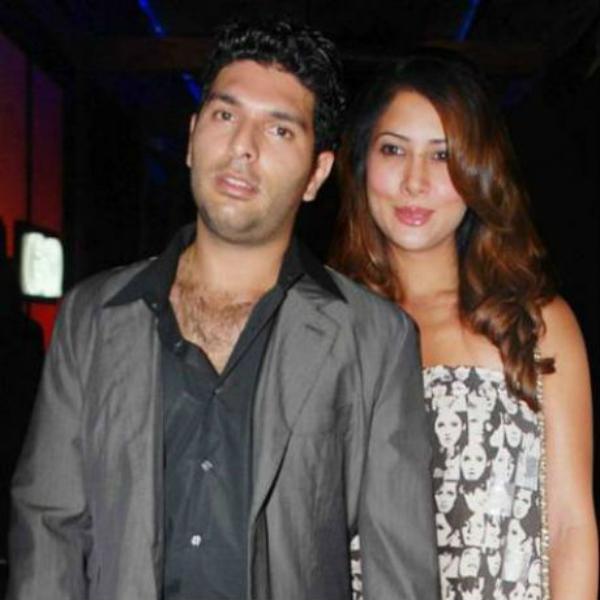 Yuvraj Singh and Kim Sharma