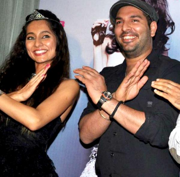 Yuvraj Singh and Anusha Dandekar