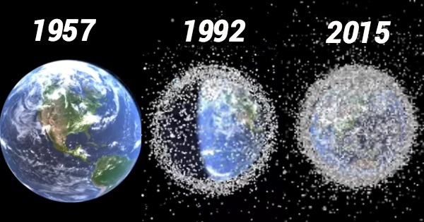 Trillion Pieces Of Space Junk Circling The Earth At 30,000 MPH Speed, Poses The Threat Of A Global War