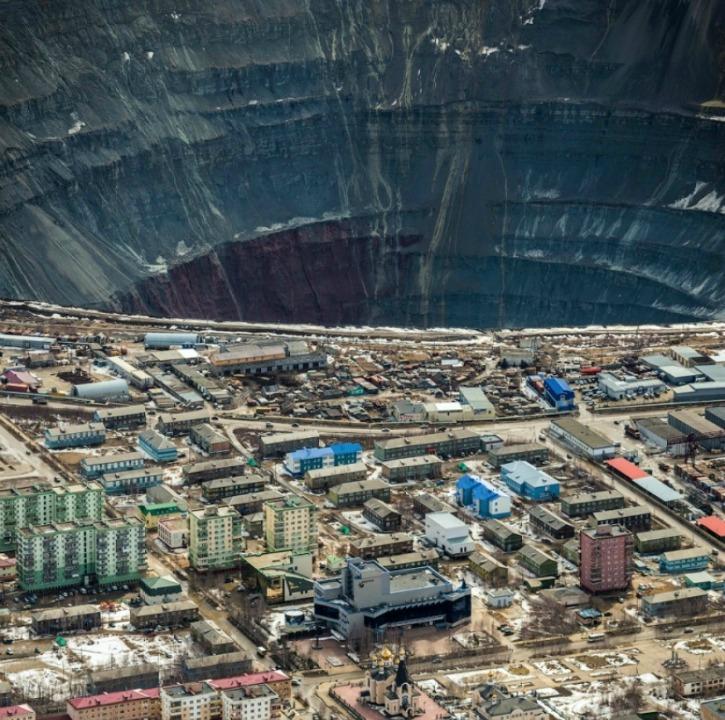 Open pit diamond mine