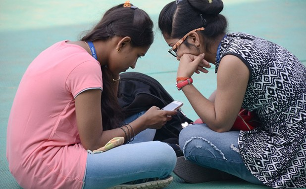 Girls Using Mobile