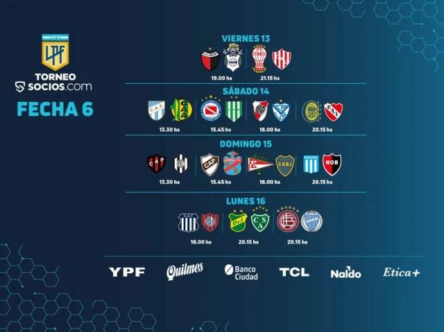 La fecha 6 tendrá dos partidos liberados y la presentación del líder, Independiente, en Rosario.