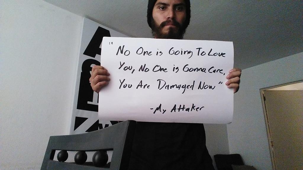 """Da Project unbreakable: """"Nessuno ti amerà, nessuno si occuperà di te, ora sei guasto"""" – Il mio aggressore. - Tumblr"""