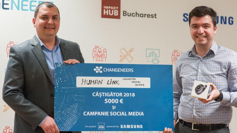 Human Link este câștigătorul marelui premiu din competiția Changeneers Challenge
