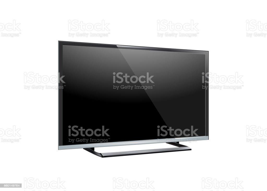 https www istockphoto com fr vectoriel c3 a9cran de t c3 a9l c3 a9vision de tv led noir blanc sur fond blanc gm860149764 142240245