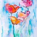 Original Malen Mit Wasserfarben Moderne Kunst Wunderschonen Blumen Stock Vektor Art Und Mehr Bilder Von Blau Istock