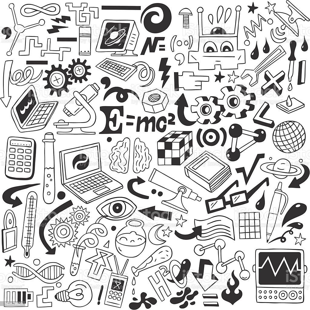 Science Doodles Collection Stock Vector Art Amp More Images