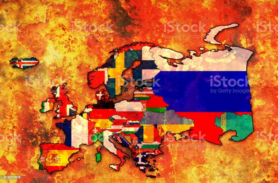 Territory Of European Countries With Flags On Political Map Stock     territory of european countries with flags on political map royalty free  territory of european countries