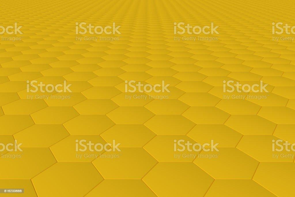 https www istockphoto com vector yellow monochrome hexagon tiles abstract background gm816200688 132072203