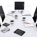 3d Office Meeting Room With Office Accessories Stock Photo Download Image Now Istock