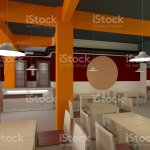3d Rendering Of A Fast Food Restaurant Interior Design Stock Photo Download Image Now Istock