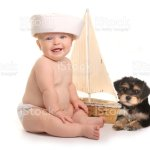 Adorable Baby Boy With His Pet Teacup Yorkie Puppy Stock Photo Download Image Now Istock
