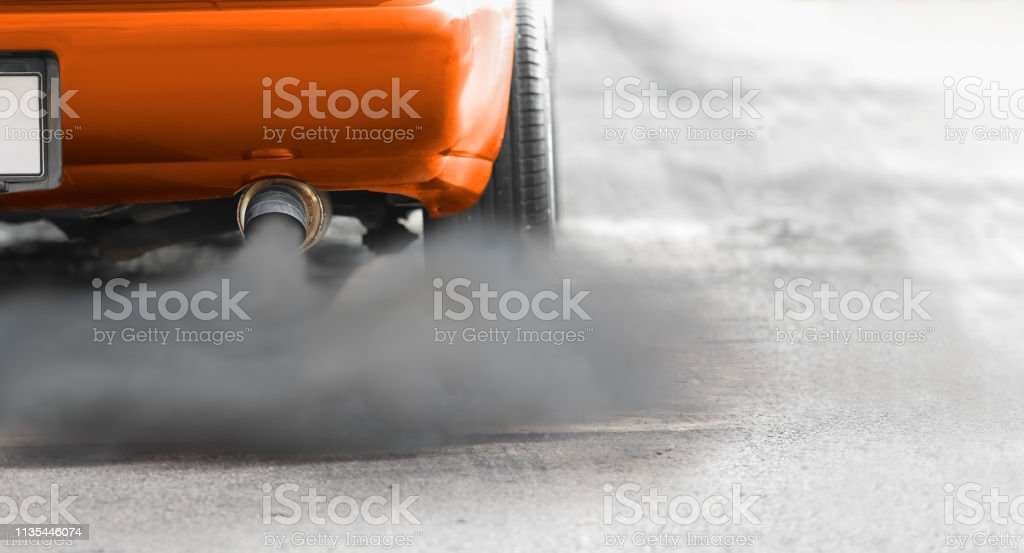 air pollution crisis in city from diesel vehicle exhaust pipe on road stock photo download image now istock