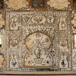 Beautiful Mosaic Wall Design With Mirrors Marble And Tiles In Fort Amber Jaipur India Stock Photo Download Image Now Istock