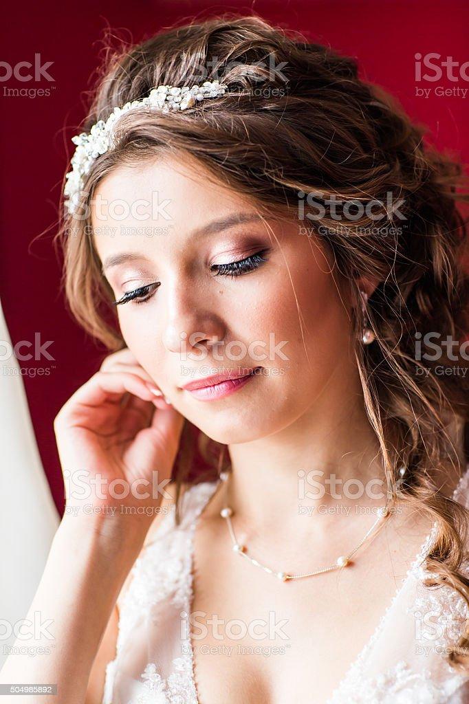 Einzigartige Abbildung Des Muslimischen Modell Mit Braut Make Up