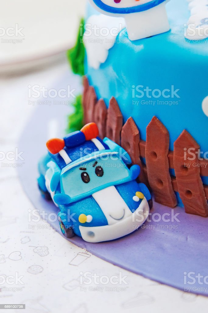 Birthday Cake For 1 Year Old Boy Stock Photo Download Image Now Istock