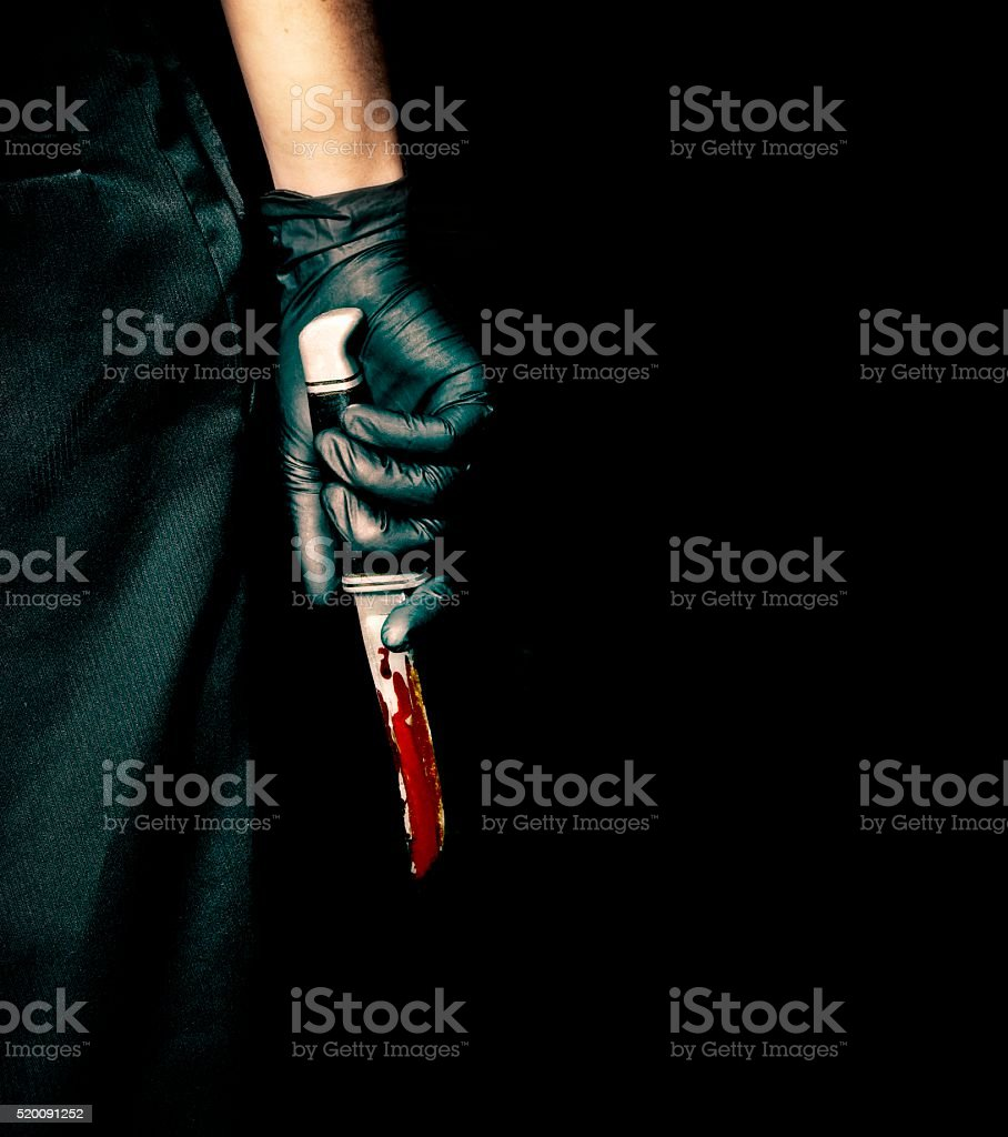 Scary Hand Holding Knife
